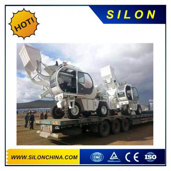 Silon 4WD Self Loading Concrete Mixer Truck with 270L Front Loading Shovel (SL1.7R)