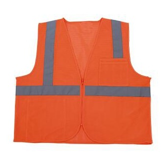 High-Visibility Reflective Safety Vest with Pocket