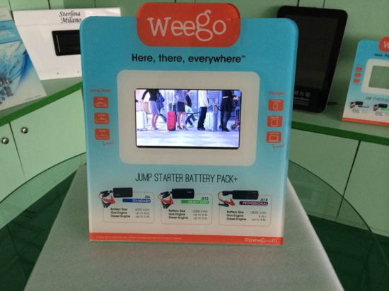 POS Display with 7inch Video Screen Battery Operated