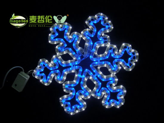 China Incandescent Rope Light Motif 2d Snowflake