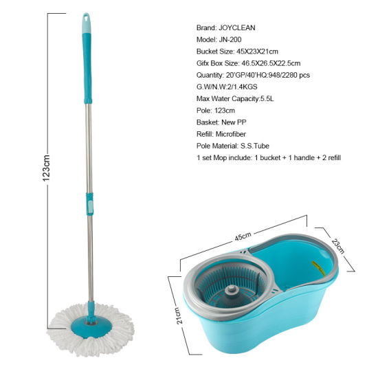 Joyclean Hand Pressing Mop 360 Cleaning Magic Spin Mop