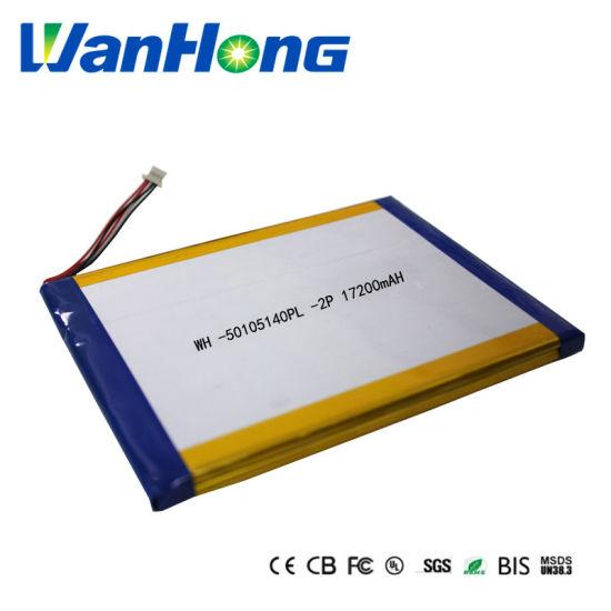 Li-ion Battery Lithium Polymer Battery 50105149pl 2p 17200mAh Li-Polymer Battery Pack for Tablet PC E-book