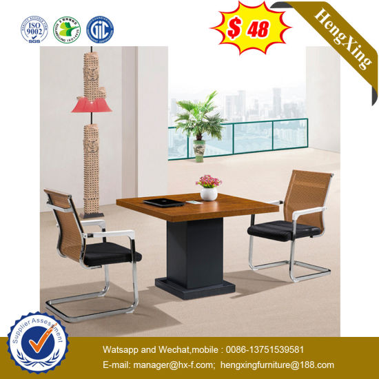 Classic Square Shape Modern Wooden School Office Conference Table