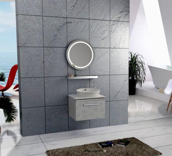 Modern Stainless Steel Metal Toilet Wall Storage Hotel Bathroom Cabinet