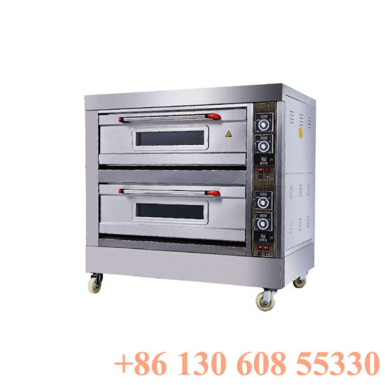 2layers 4trays Commercial Deck Oven for Pizza Bread Cake Use