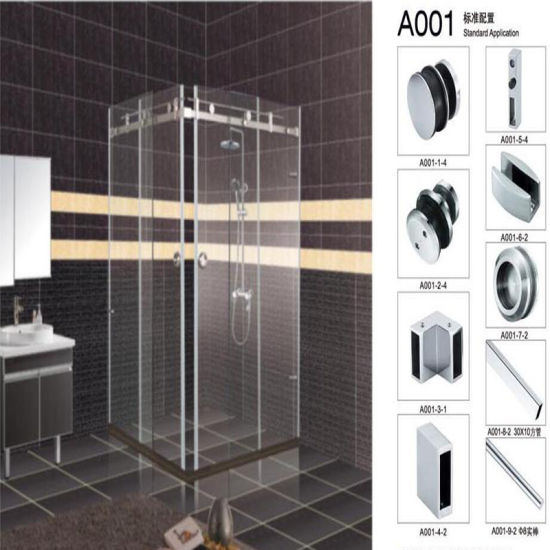 China Shower Room Hardware Fittings Shower Enclosure Glass Door