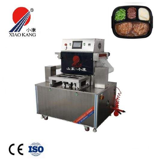 Dh-Zq Map Vacuum Tray Sealing Machine for Fresh Meat Chicken Meal