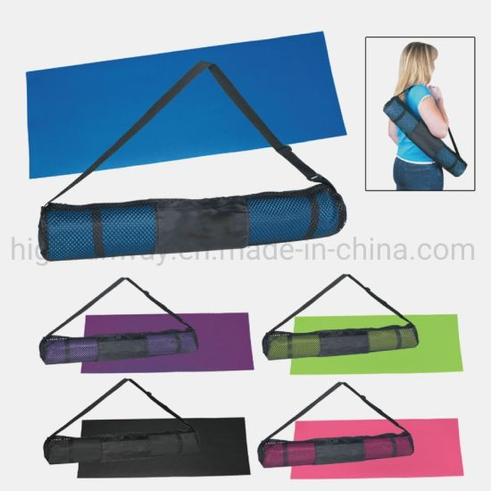 PVC Waterproof Durable Exercise Fitness Yoga Mat with Carry Bag