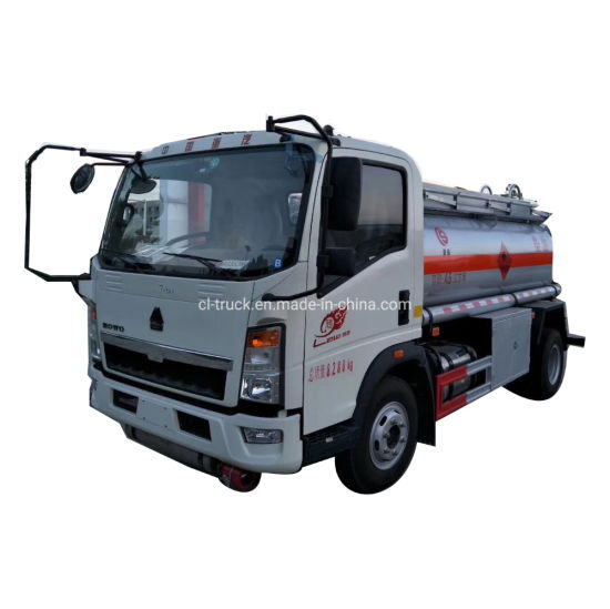 Sinotruk HOWO Light 5000liters 10000liters Transport Oil Tankers Truck for Sale