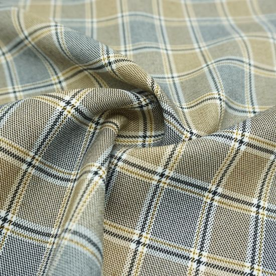 Fabric, T/R, Check, 85%Polyester 13%Rayon 2%Spandex Gold Line Tr Quality Fabric for Garment