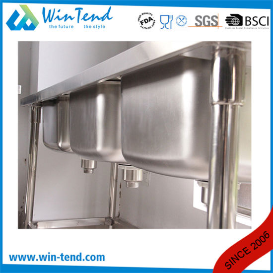 Commercial Stainless Steel Economic Type Kitchen Triple Sink pictures & photos