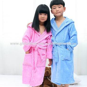 Hooded Cotton Terry Baby Bathrobe / Pajama / Nightwear / Sleepwear pictures & photos