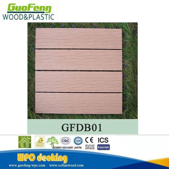 China Wpc Anti Slip Waterproof Diy Interlocking Flooring Tiles 300