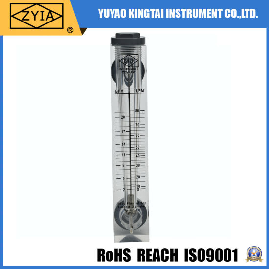 Panel Mount Acrylic Flow Meter for Air or Water