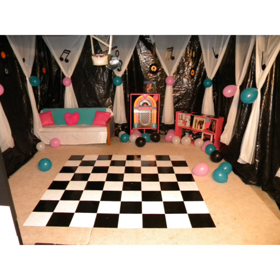 China Black And White Plywood Dance Floor Diy Portable