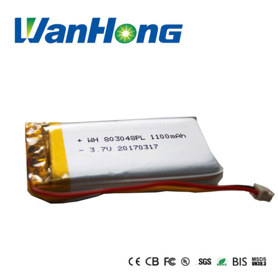 Li-ion Battery 803048pl 1100mAh Rechargeable Li-Polymer Battery Lithium Polymer Battery Pack for GPS/MID/Speaker