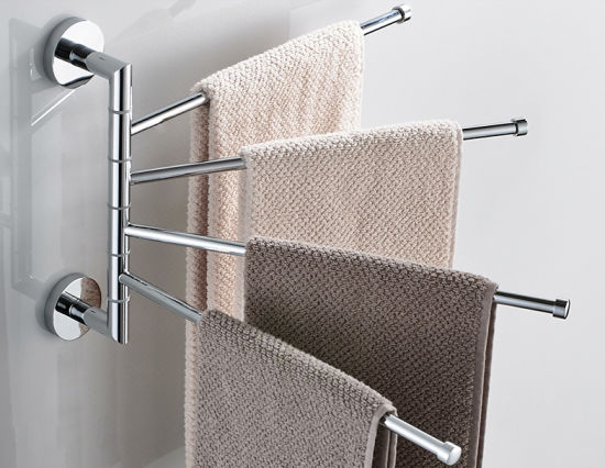 Inox Stainless Steel Swivel Towel Bar Bathroom Accessories Swivel Towel Rail