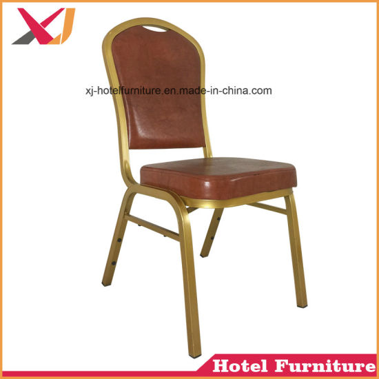 china wholesale cheap used fancy luxury stackable rental gold metal