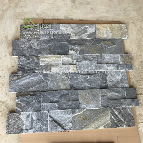 Blue Quartzite Slate Ledgestone Tile For Interior Exterior House Wall Decoration Pictures Photos