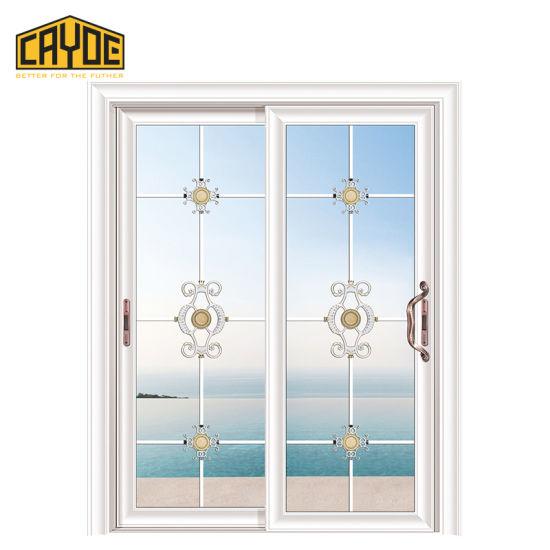 China Foshan Door Wooden Tempered Glass Sliding Door Price China