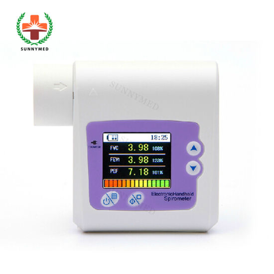 Sy-C036 Checking Lung Conditions 1.8'' Color LCD Handheld Bluetooth Spirometer