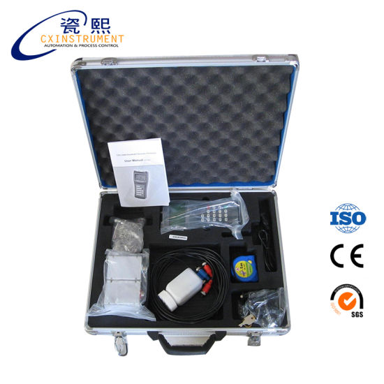 1.0% High Accuracy and Local LCD Display Handheld Ultrasonic PVC Water Flow Meter Price pictures & photos