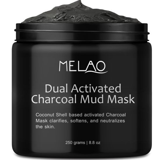 Natural Premium Activated Age Charcoal Mud Mask Facial Treatment Acne