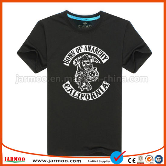 Custom Round/V Neck Polyester Men's T Shirts Sublimation Fast Dry Sport Wear Short Sleeve Cotton Polo Shirt Screen Printing T Shirt
