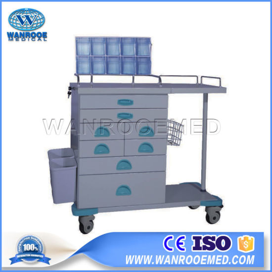 Bat-56j Hospital ABS Medical Equipment Steel Frame Anesthesia Trolley Cart