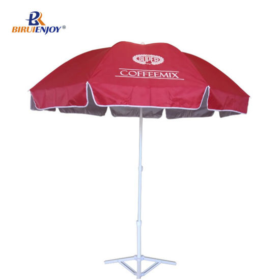 4cc900c13afd4 Custom Cheap Advertising Beach Umbrella Sun Protection for Market/Stall  180/200