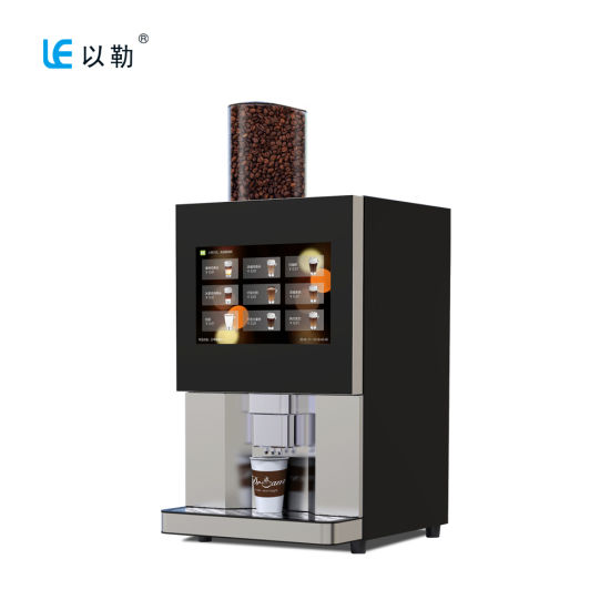 Fully Automatic Espresso Coffee Fresh Tea Vending Machine with Touch Panel