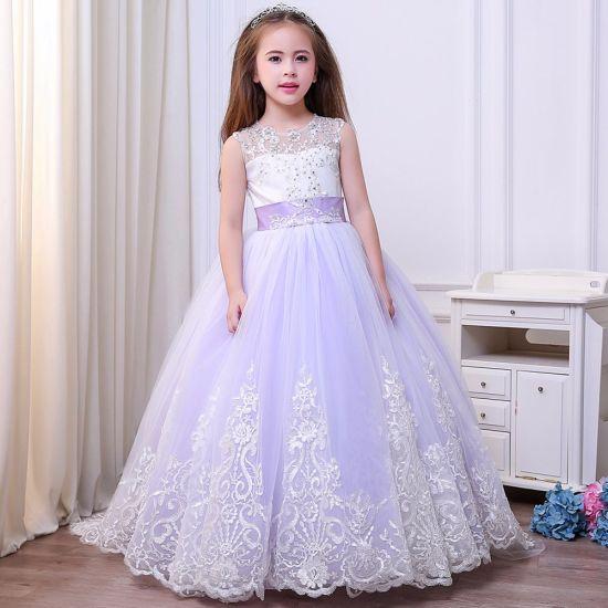 Long Trailing Lace Puff Princess Dress Temperament Flower Girl Dress