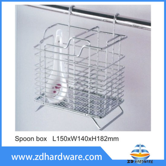 Kitchen Storage Spoon Knife Box Basket Wire Ware Spoon Holder Rack pictures & photos