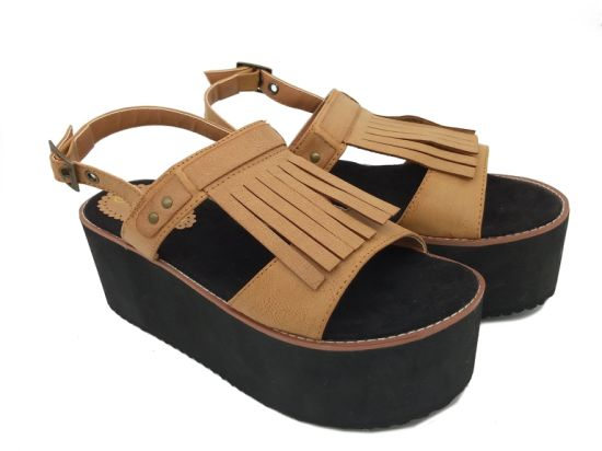 45033bcd1986 China Plus Size Platform Sandals Wedges Womens Leisure Ankle Strappy ...