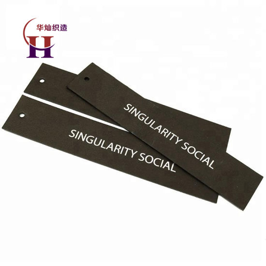 Factory Price Custom Garment Clothing Paper Tickets Labels Printing Swing Hang Tags with Plastic Seal String