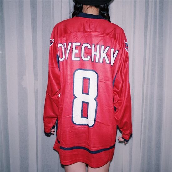 China Make Your Own Ice Hockey Jersey Customized Red Colorful for ... 613871b9719