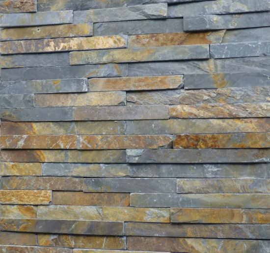 Slate Stone Elevation : China slate stone veneer exterior split face wall cladding