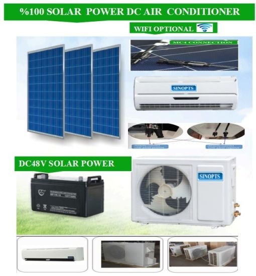 off Grid Solar Air Conditioner 48V/DC 9000BTU/H 24h/Day pictures & photos