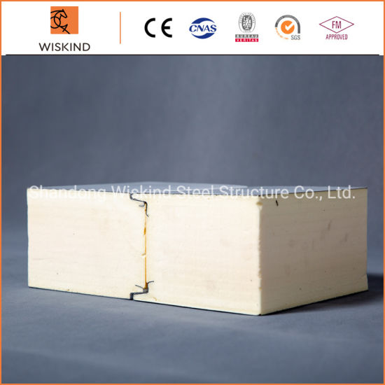 50mm/75mm/100mm/150mm/200mm/300mm Metal Polyurethane Sandwich Panel Used on Warehouse