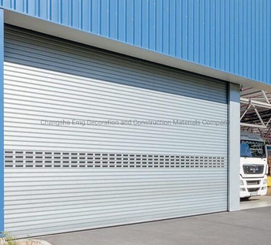 Aluminum Motorized Roller Shutter Industrial Garage Door Rolling Roll up Door
