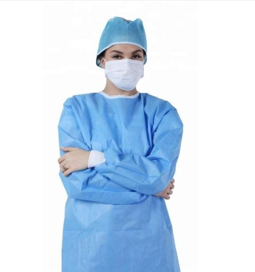 Disposable Protective Isolation Gown / Disposable Surgical Gown Medical Use