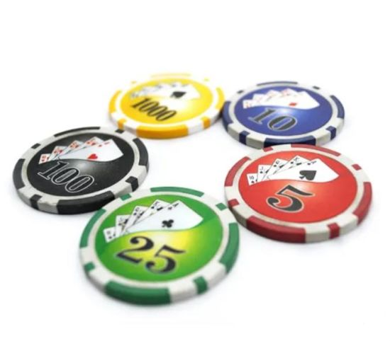 Customized Logo 14G Two Tone Diamond Clay Poker Chip Gambling Chip