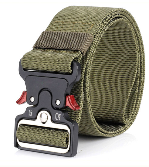 Men/'s Outdoor Canvas Buckle Belt Belt Web Belt Tactical Training Military
