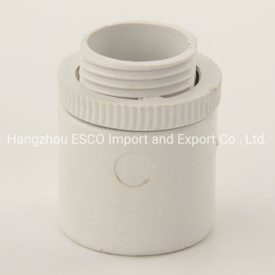 PVC Male Adaptor Conduit Fittings Threaded Black and White