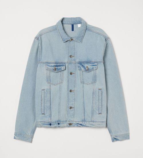 Wholesale Custom Fashion Mens Denim Jeans Jackets 100%Cotton with Bigger Printing Light Blue Denim Jackets