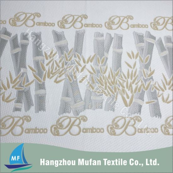 Double Jacquard Knitted Mattress Ticking Fabric with Bamboo Fiber Material