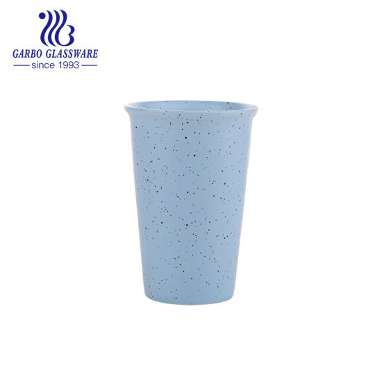 410ml Glazed Color Ceramic Water Cup Porcelain Tea Cup Tc010190410-a pictures & photos