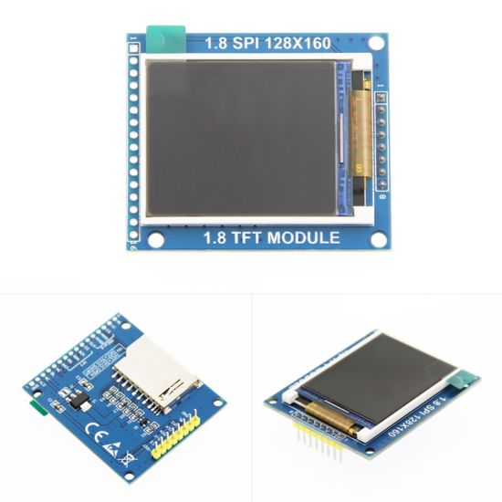 1.77 Inch 128X160 Spi Port Serial Interface TFT LCD Driver Board Module Display with SD Card Slot