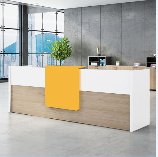 New Concept Modern Reception Counter Design Hotel Lobby Table