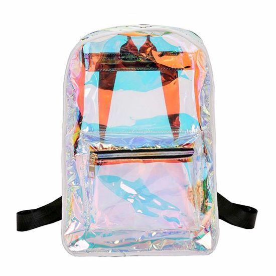 Women Transparent Handbag Laser Bag Shoulder Bag Shopping Travel Purse